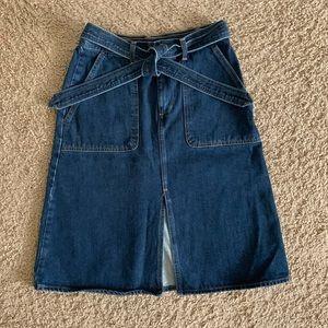 Levi's Midi Skirt Denim Jean with Belt